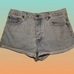 FOREVER21 Button Front High Waist Shorts